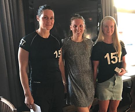Topptrion på damsidan: Britta Johansson Norgren, Lina Korsgren och Elin Mohlin. FOTO: Marcus Laggar.