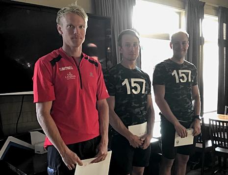 Topptrion på herrsidan: Jens Eriksson, Marcus Johansson och Anton Karlsson. FOTO: Marcus Laggar.