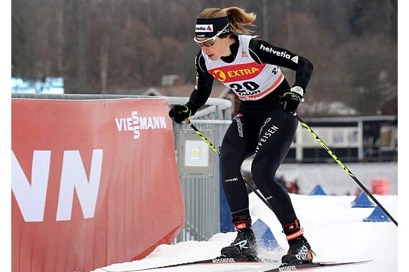 Laurien Van Der Graaff från Schweiz vann två sprinttävlingar i världscupen i vintras och nu utmanar den 31-åriga schweiziskan Stina Nilsson i Dansbandssprinten i Malung torsdagen den 19 juli. FOTO: Marcela Havlova/KEK-stock.