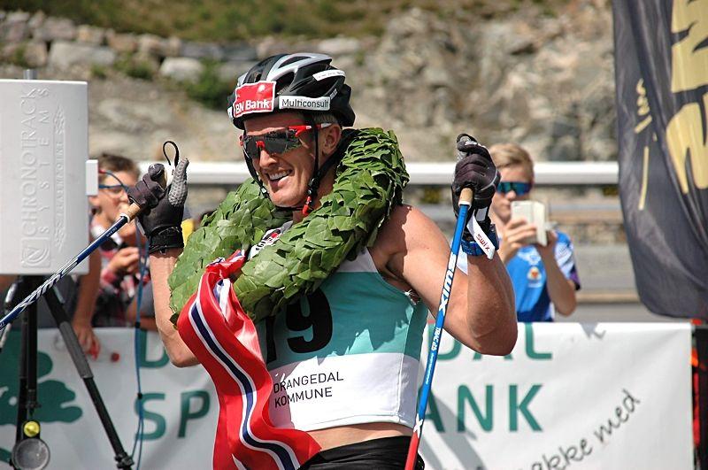 Morten Eide Pedersen vann åtta mil långa Olaf Skoglunds Minnelöp i fjol och är förstås en av huvudfavoriterna på 2018 års upplaga på lördag. FOTO: Guide World Classic Tour.