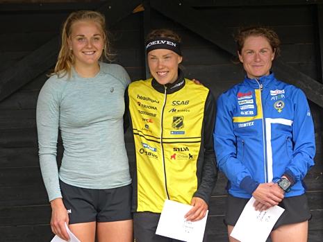 Dampallen: Stina Nilsson, Tove Alexandersson och Kajsa Risby. FOTO: Johan Trygg/Längd.se.