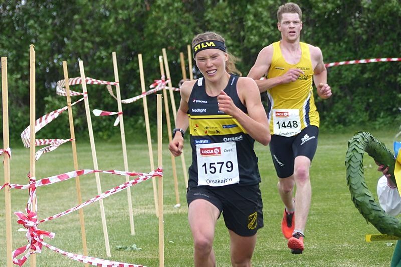 Tove Alexandersson sprang fort på midsommarafton i Orsa. FOTO: Johan Trygg/Längd.se.