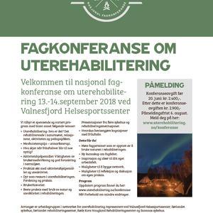 Plakat til konferanse om uterehabilitering 2018
