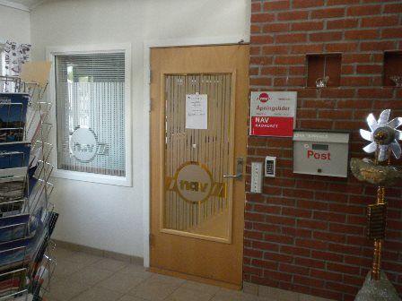Inngang NAV på Sørfold Rådhus