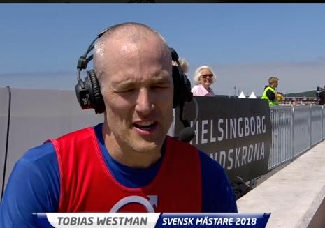 Tobias Westman bjöd på några härliga kommentarer i intervju med SVT. FOTO: Från SVT:s sändning.