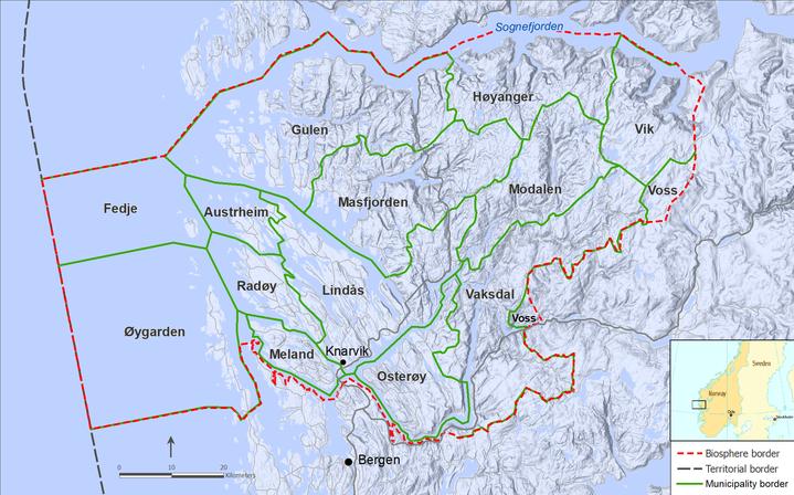 kart over nordhordland Kart over Nordhordland biosfæreprosjekt   Nordhordland  kart over nordhordland