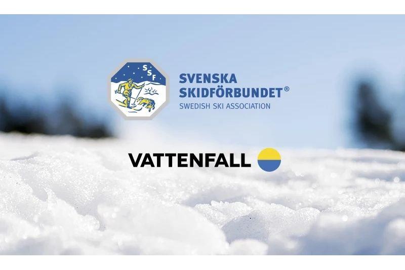 Vattenfall och Svenska Skidförbundet förlänger sitt samarbete till 2021. FOTO: Bildbyrån.