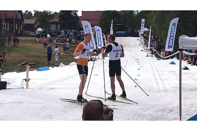 I fjol vann Marcus Grate herrfinalen före Oskar Svensson på Idresprinten. 12 juli är det dags för andra upplagan av tävlingen. FOTO: Sara Lejonclou.