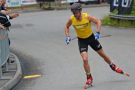 Robin Norum är på väg mot totalseger i rullskidvärldcupen för fjärde året i rad. FOTO: Johan Trygg/Längd.se.