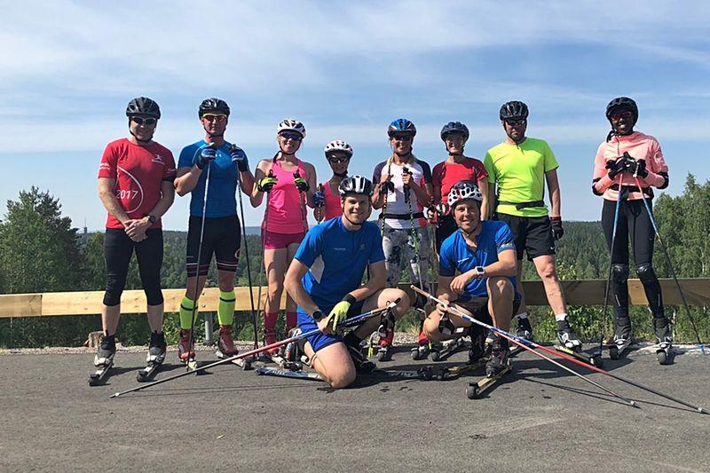 Rikard Tynell från Tynell Activity ger tips inför höstträningen. Här är Rikard, längst fram till vänster i bild, tillsammans Mikael Sandgren och en träningsgrupp. FOTO: tynellactivity.se.