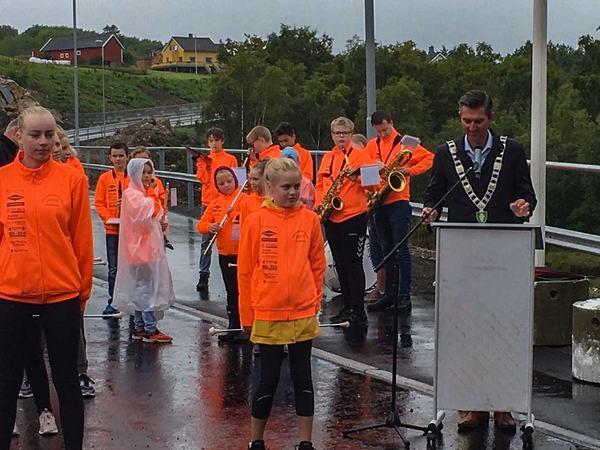 Åpning av gang og sykkelvei på Eigerøy