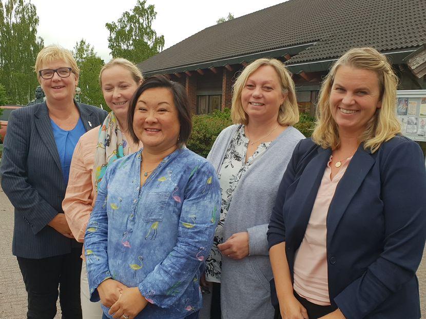 Bilde av representanter for hovedsammenslutningene