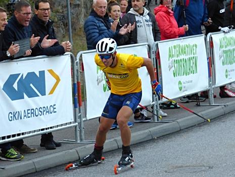 Leo Johansson blev trea och bäste svensk i herrjuniorklassen. FOTO: Johan Trygg/Längd.se.