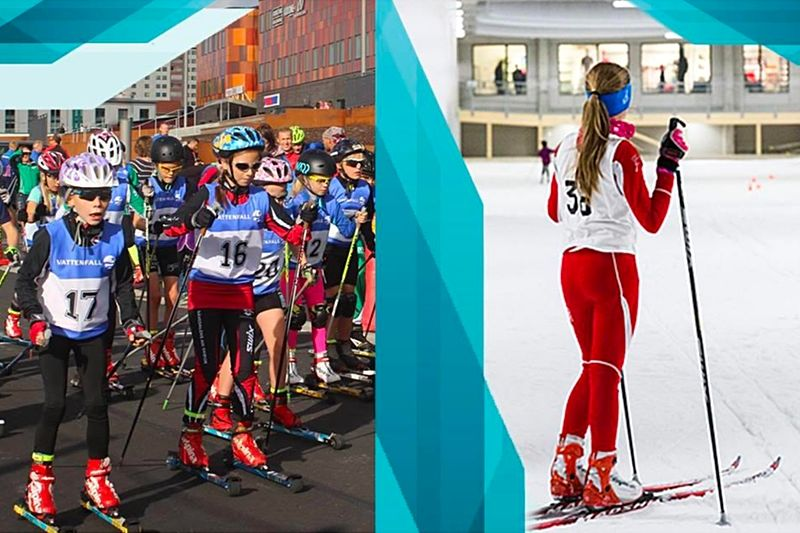 28-30 september blir det skidfest på Kviberg i Göteborg med tävlingar både på snö och på rullskidor. FOTO: Göteborgs skidfestival.