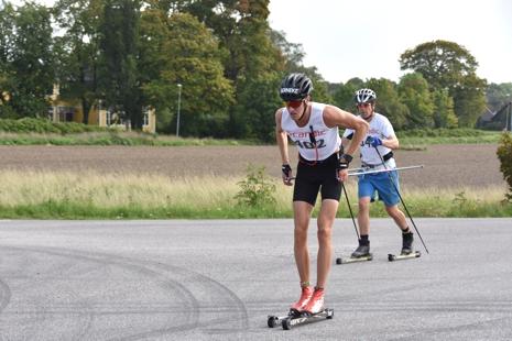Pontus Nordström varvar på väg mot säker seger. FOTO: UVK - Gun-Mari Lindkvist.