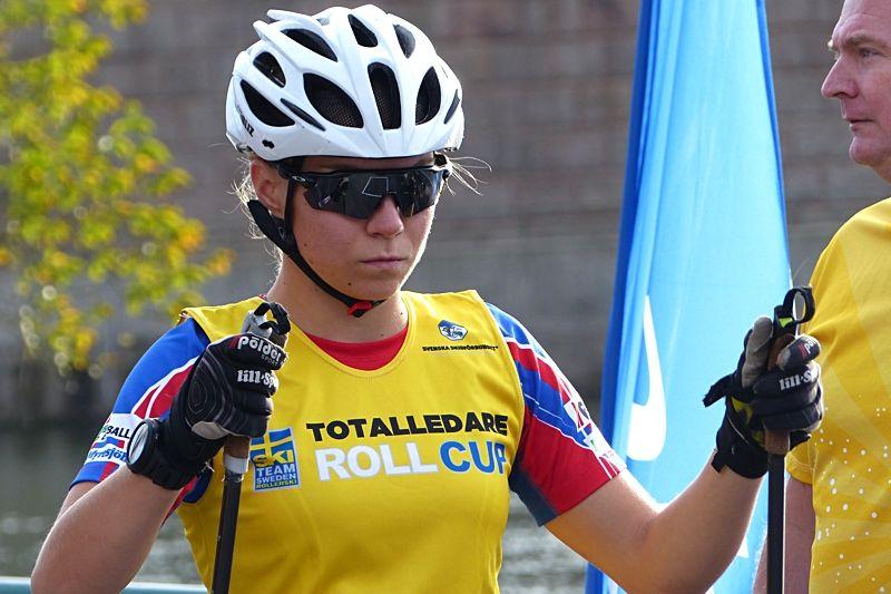 Moa Hansson har inlett rullskidvärldscupens avslutning med två pallplatser. FOTO: Johan Trygg/Längd.se.