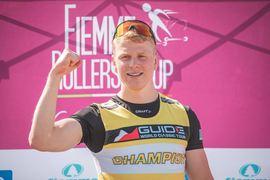 Norrmannen Anders Höst som åker för svenska långloppslaget Team Serneke tog hem totalsegern i Guide World Classic Tour. FOTO: Federico Modica.