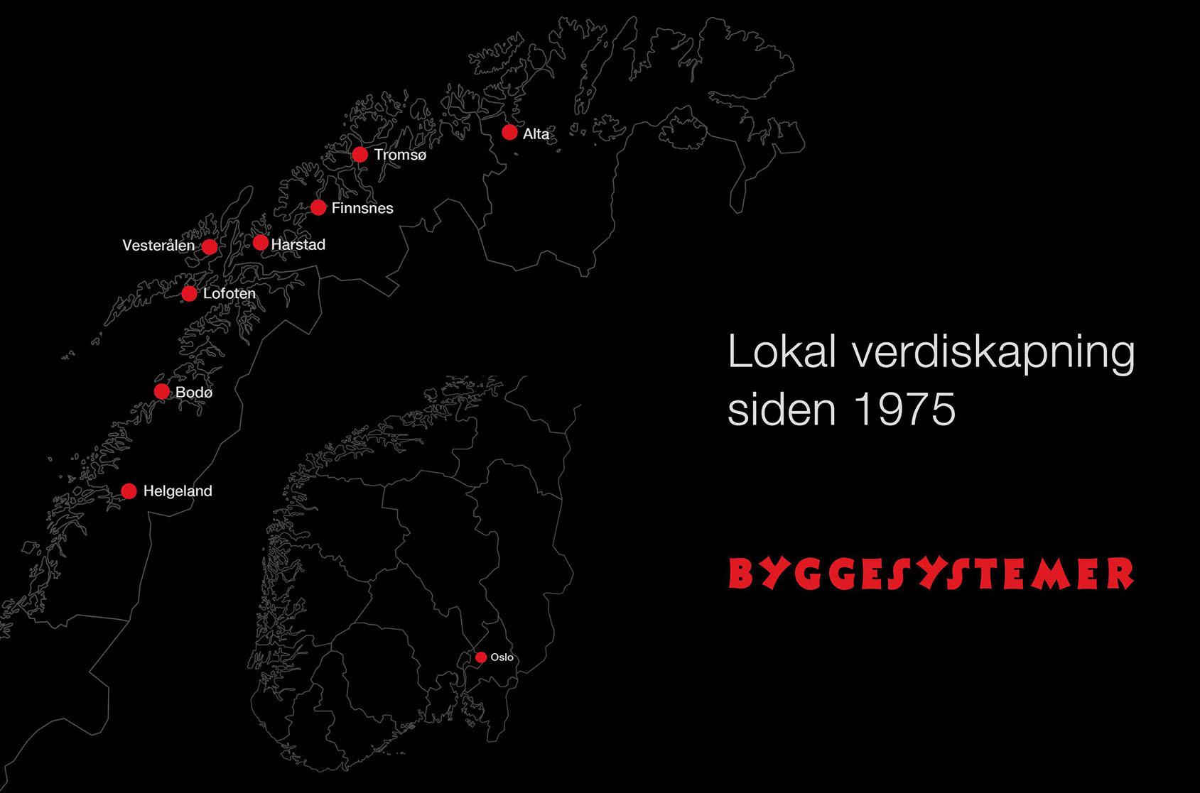 Lokal verdiskapning siden 1975 - Våre avdelinger