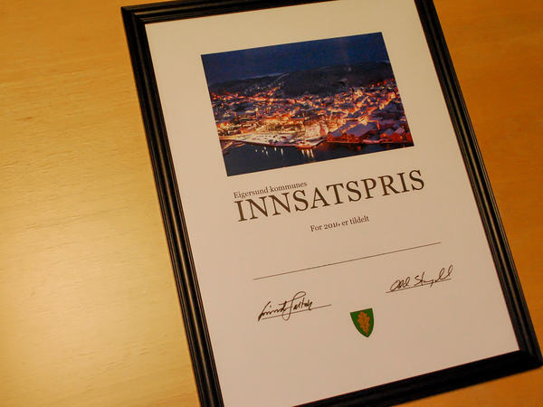 Innsatsprisen for Eigersund kommune