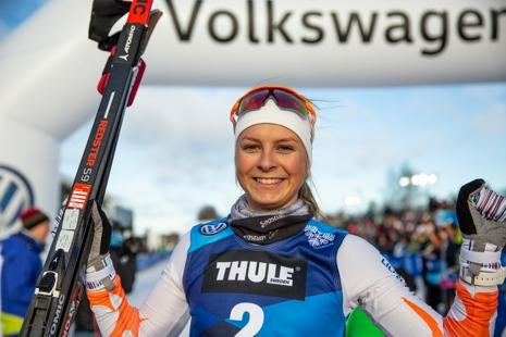 Världsrekordhållaren på 100 meter, Marte Nordlunde, kommer till start i Östersund. FOTO: Per Danielsson, Frilansfotograferna.
