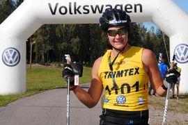 Britta Johansson kan se tillbaka på framgångsrika veckor på rullskidorna. FOTO: Volkswagen rullskidcup.