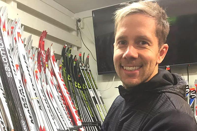 Fredrik Byström i sin nya arbetsmiljö på Längdcentrum i Orsa Grönklitt. FOTO: Grönklittsgruppen.
