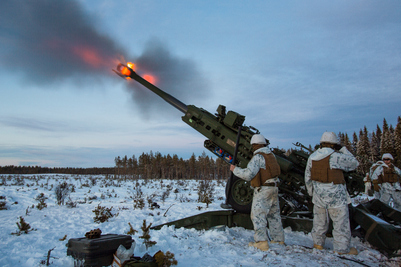 I forkant av Cold Response 2016, deltok U.S. Marine Corps på vintertrening på Rena. // Before Cold Response 2016, the U.S. Marine Corps attended winter training at Camp Rena.