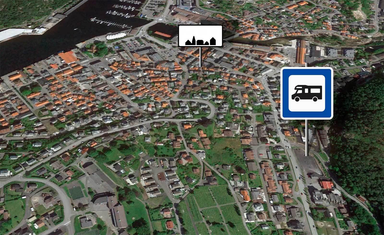 Bobilparkering i Årstadalen og Egersund