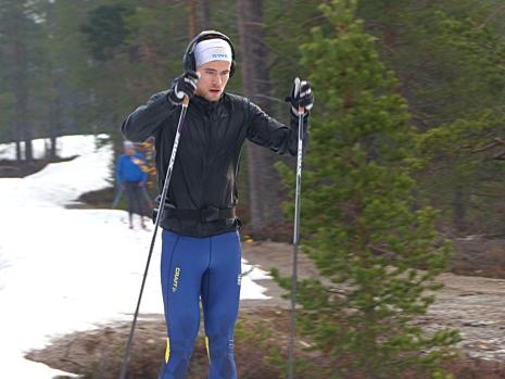 Fokus på träningspassen är viktigt för Viktor. FOTO: Johan Trygg/Längd.se.