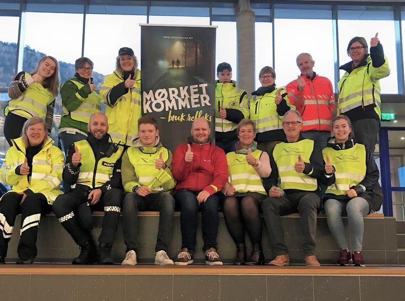 Refleksdagen 2018 - markert ved Sogndal vidaregåande