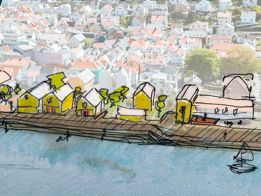 Havnepromenade i Egersund