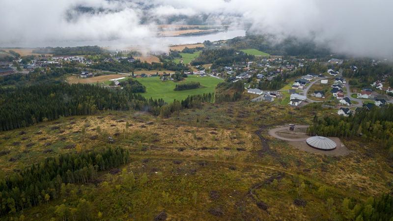 Oversiktsbilde tomteområdet på Skage