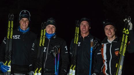 Toppkvartetten med fr.v. trean Andreas Holmberg, ettan Anton Karlsson, tvåan Emil Persson och fyra Olle Jonsson. FOTO: TW Media.