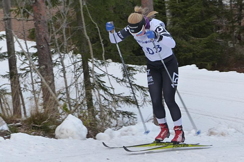 Elin Mohlin var helt överlägsen på Bessemerloppet. Bilden dock från Grönklittspremiären. FOTO: Johan Trygg/Längd.se.