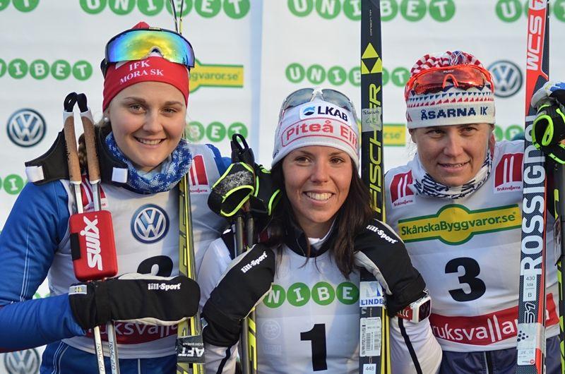 Stina Nilsson, Charlotte Kalla och Ida Ingemarsdotter och flera svenska damstjärnor ser ut att hoppa över vinterns Tour de Ski. FOTO: Johan Trygg/Längd.se.