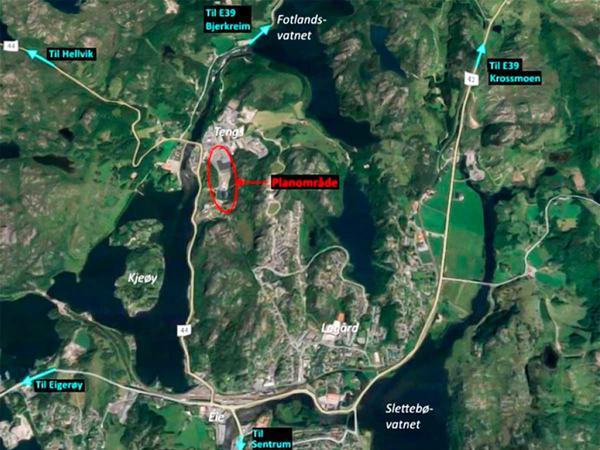 Satelittbilde over Vingård