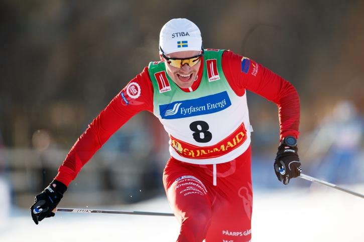 Karl-Johan Westberg avslutade snabbt och knaprade in några sekunder på Jens Burman. FOTO: Johan Axelsson/Bildbyrån.