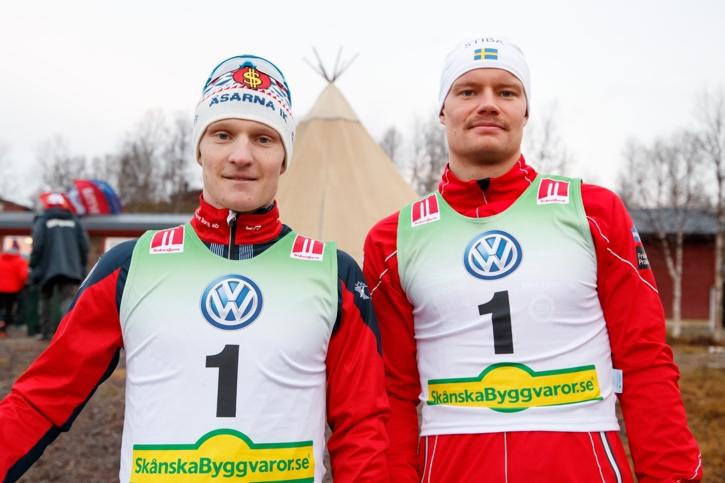 Två ettor: Jens och Karl-Johan. FOTO: Johan Axelsson/Bildbyrån.