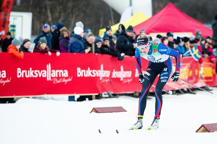 Junioren Frida Karlsson imponerade stort med en andra plats. FOTO: Johan Axelsson/Bildbyrån.