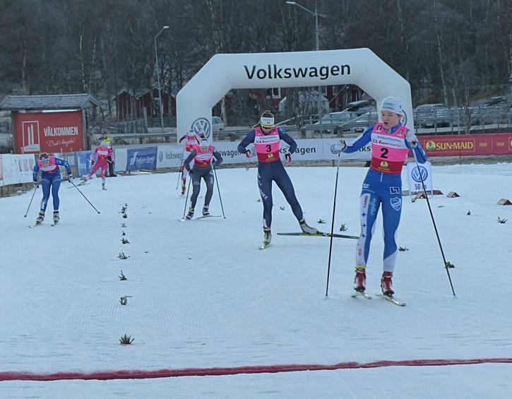 Linn Svahn defilerade hem segern i D 17-20. FOTO: Johan Trygg/Längd.se.
