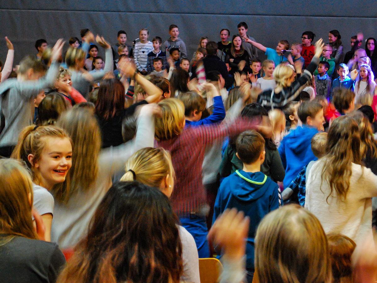 Elever i skolen i Eigersund
