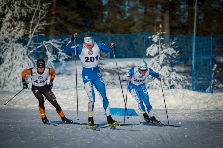 Prologvinnaren Marcus Grate vann också semifinal 1 före Hugo Jacobsson, Falun Borlänge och klubbompisen Martin Bergsgsröm som sen vann finalen. FOTO: Patrick Trägårdh.