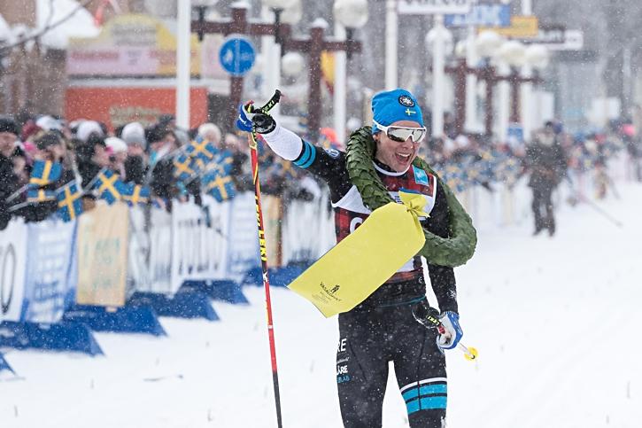 Lina fick en efterlängtad fullträff på Vasaloppet i våras. FOTO: Daniel Eriksson/Bildbyrån.
