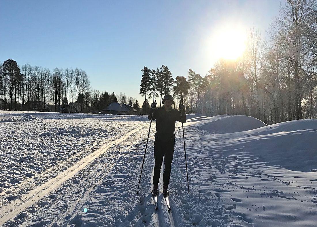 Skidsäsongen är redan igång i västgötska Mullsjö. FOTO: Lars Grehn.