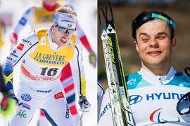 Emil Jönsson blir guide till Zebastian Modin vid VM i Kanada i februari. FOTO: Johanna Lundberg/Bildbyrån (Emil). Vegard Viwestad Grött/Bildbyrån (Zebastian).