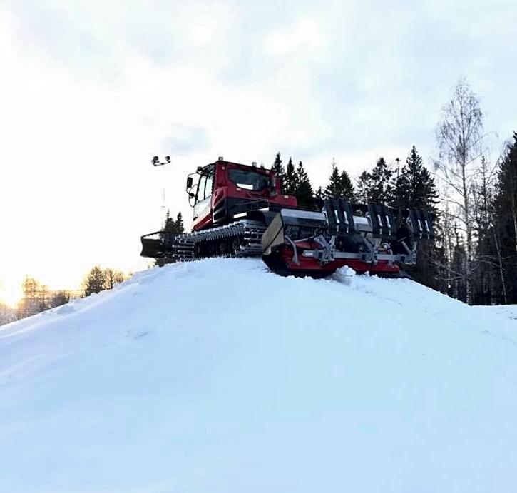 Det har producerats rejält med snö i Borås.