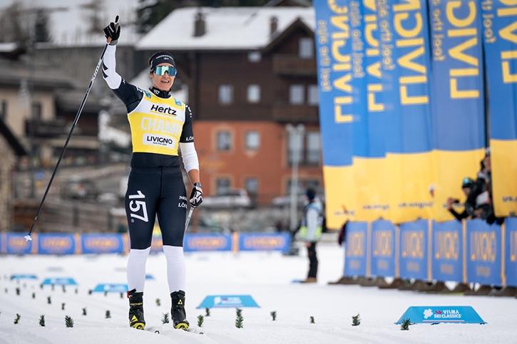Britta Johansson Norgren förde Lager 157 till seger i Livigno. FOTO: Magnus Östh.
