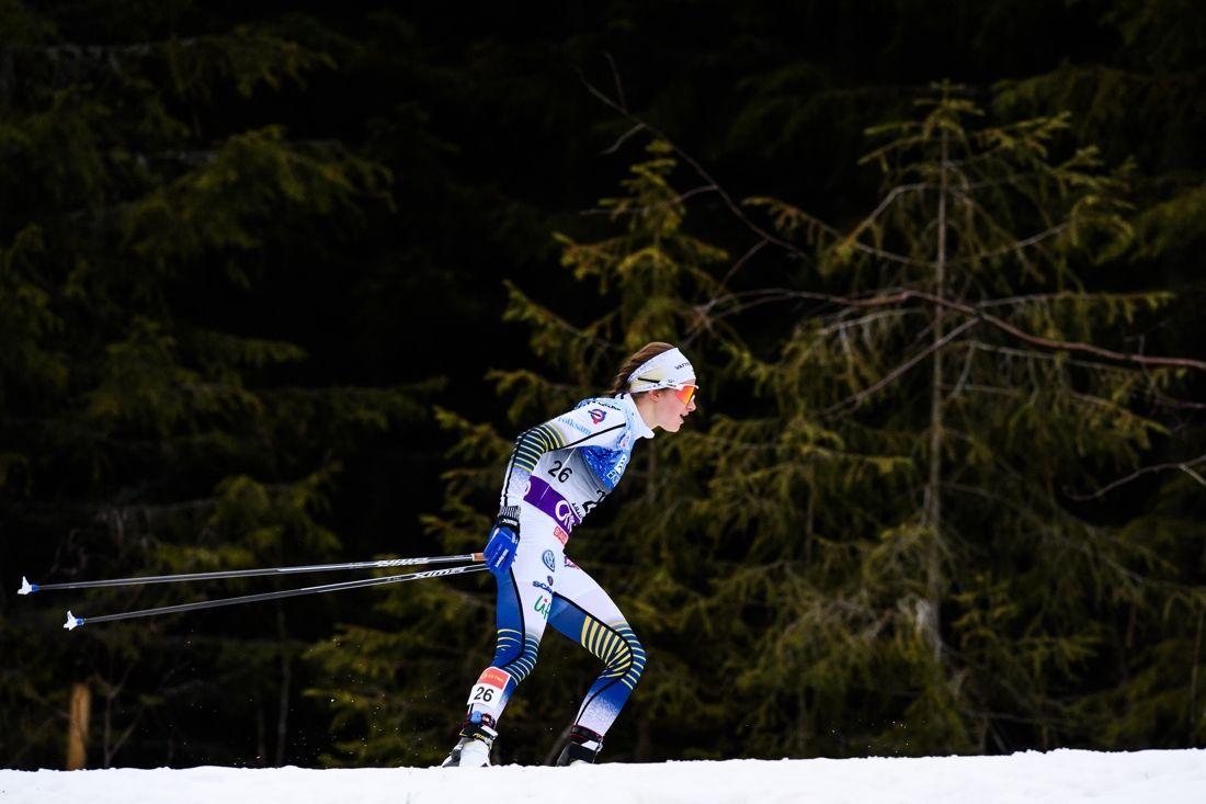 Ebba Andersson för fram till en suverän andraplats i Lillehammer. FOTO: Jon Olav Nesvold/Bildbyrån.