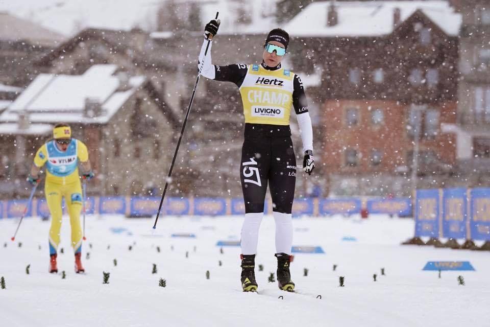 Britta Johansson Norgren spurtade hem segern i Livigno före Astrid Öyre Slind. FOTO: Magnus Östh.