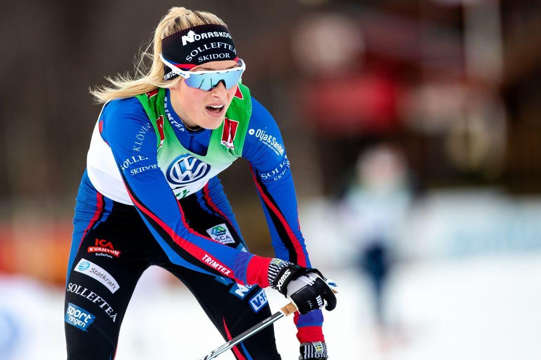 Frida Karlsson åker juniorcupen Scandic cup i Boden i helgen och är förtstås klar favorit i äldre juniorklassen. FOTO: Johan Axelsson/Bildbyrån.